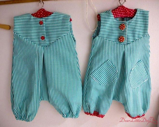 Waldorf doll romper pattern