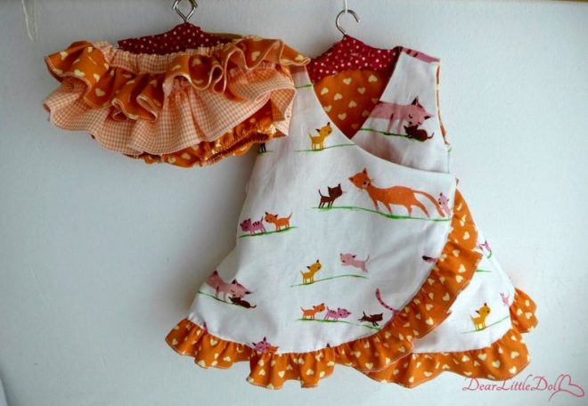 Waldorf doll dress and bloomers5