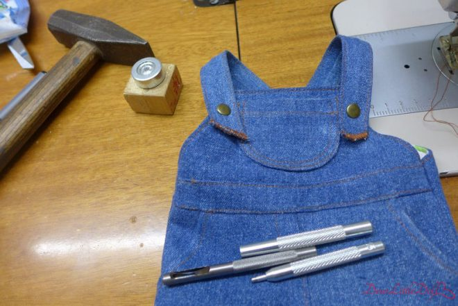Waldorf doll pattern denim overall4