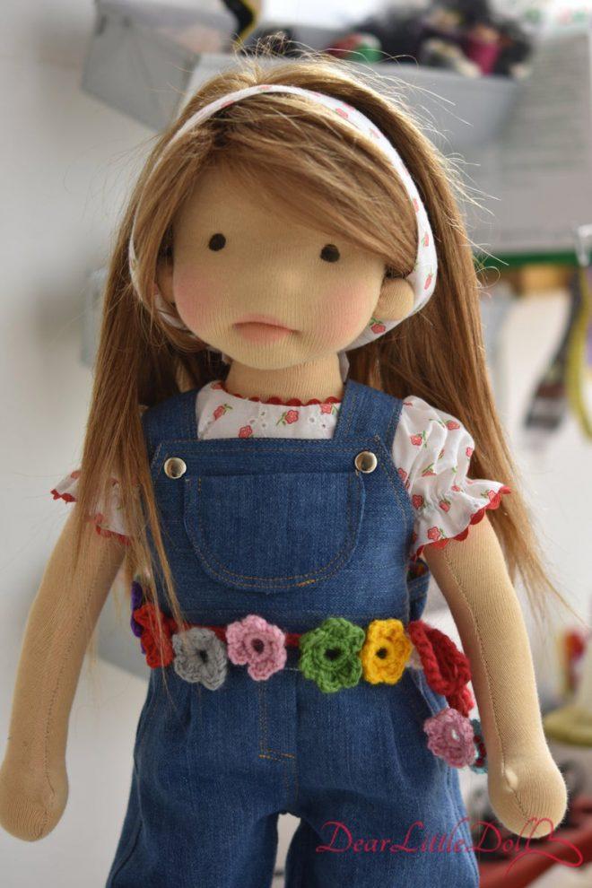 Waldorf doll pattern denim overall6