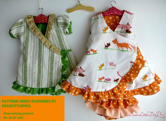 Waldorf doll dress and bloomers
