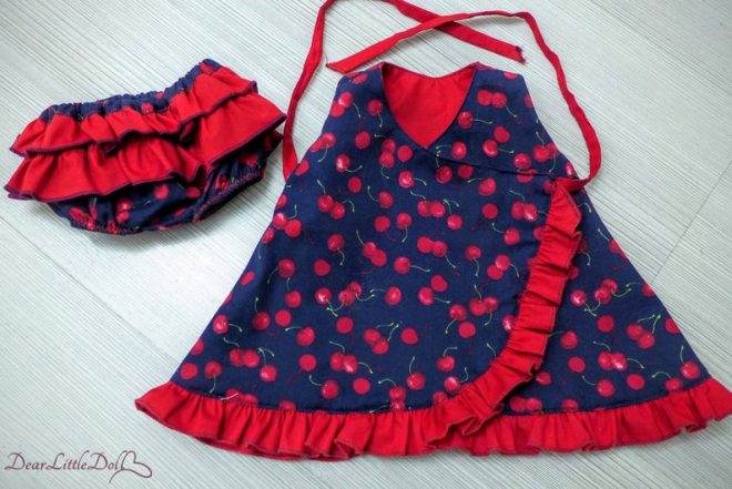 Waldorf doll dress and bloomers8