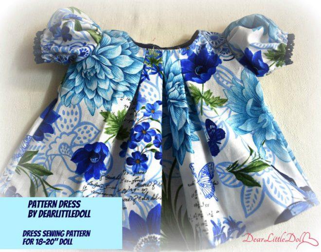 Waldorf doll pattern dress6