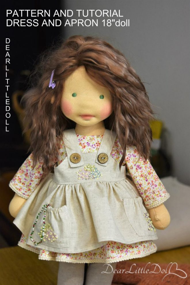Doll pattern and tutorial - dress 5