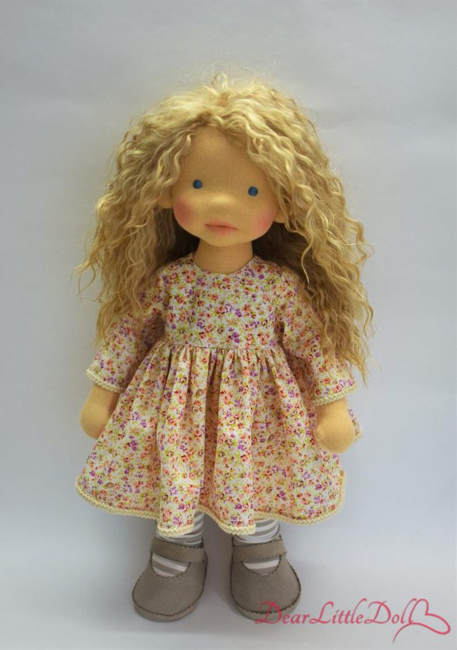 Doll pattern and tutorial - dress 6