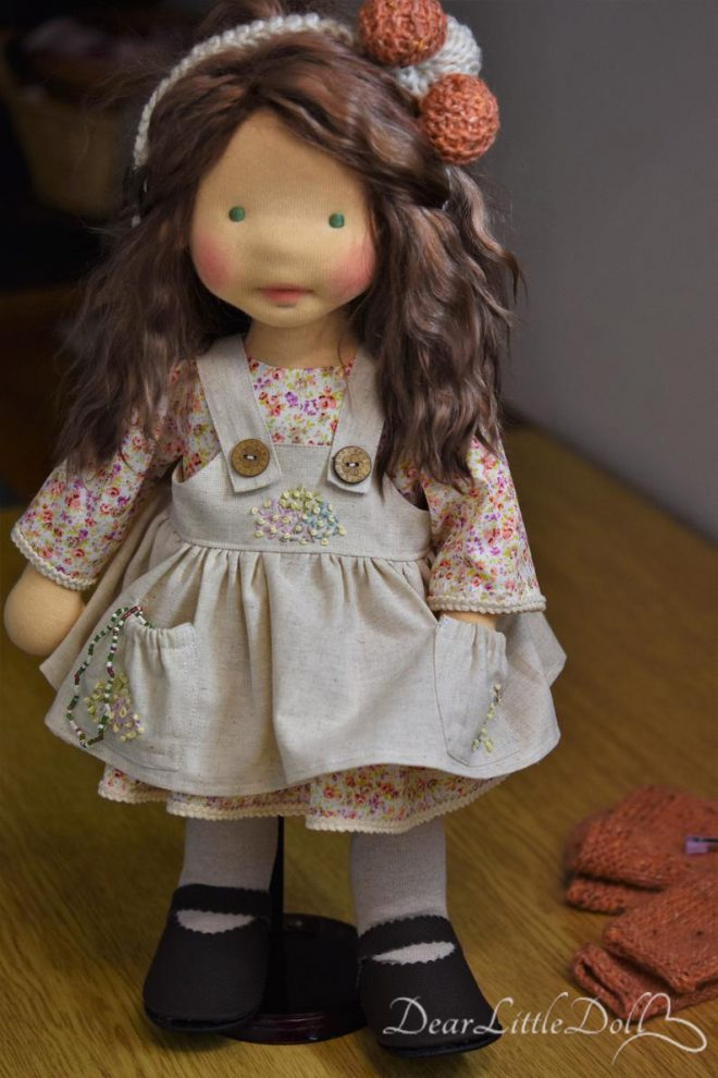 Doll pattern and tutorial - dress 7