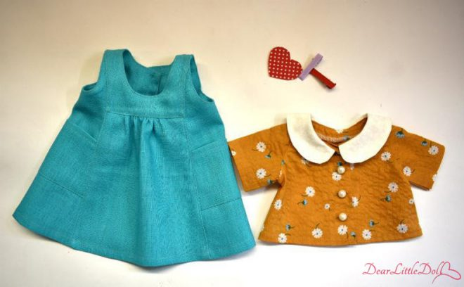 Waldorf doll pattern apron 1