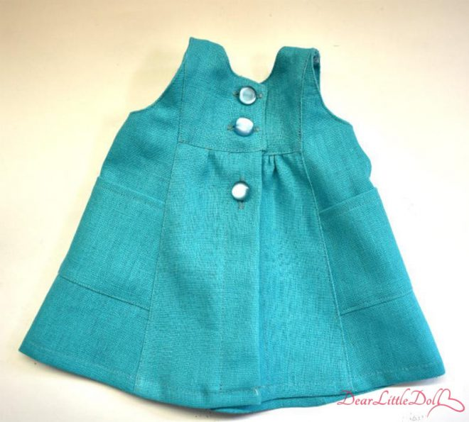 Waldorf doll pattern apron 2