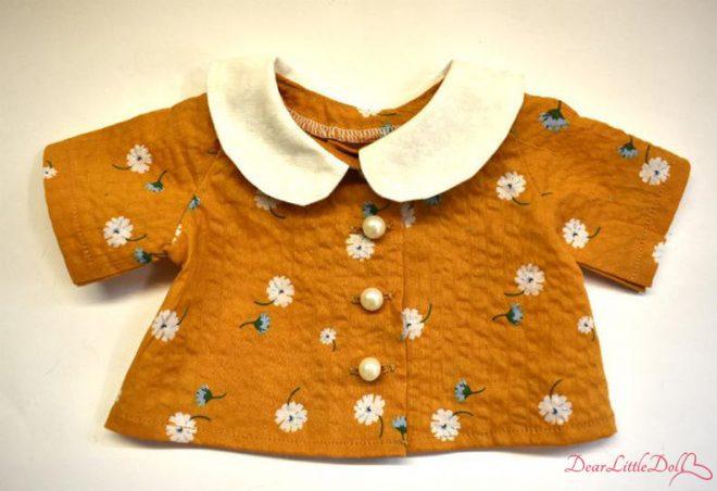 Waldorf doll pattern apron 3