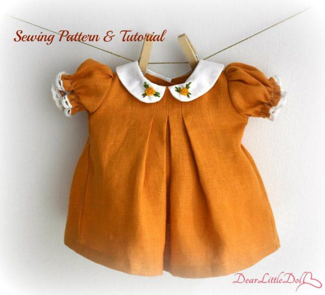 Waldorf doll pattern dress