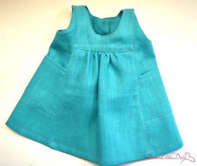 Waldorf doll pattern apron7