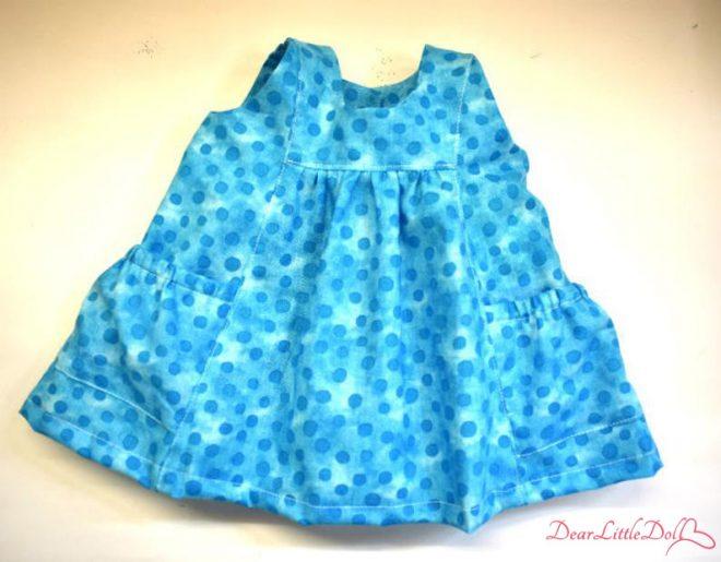 Waldorf doll pattern apron9