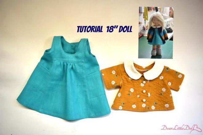 Waldorf doll pattern apron