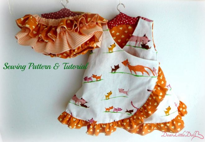 Waldorf doll dress and bloomers11