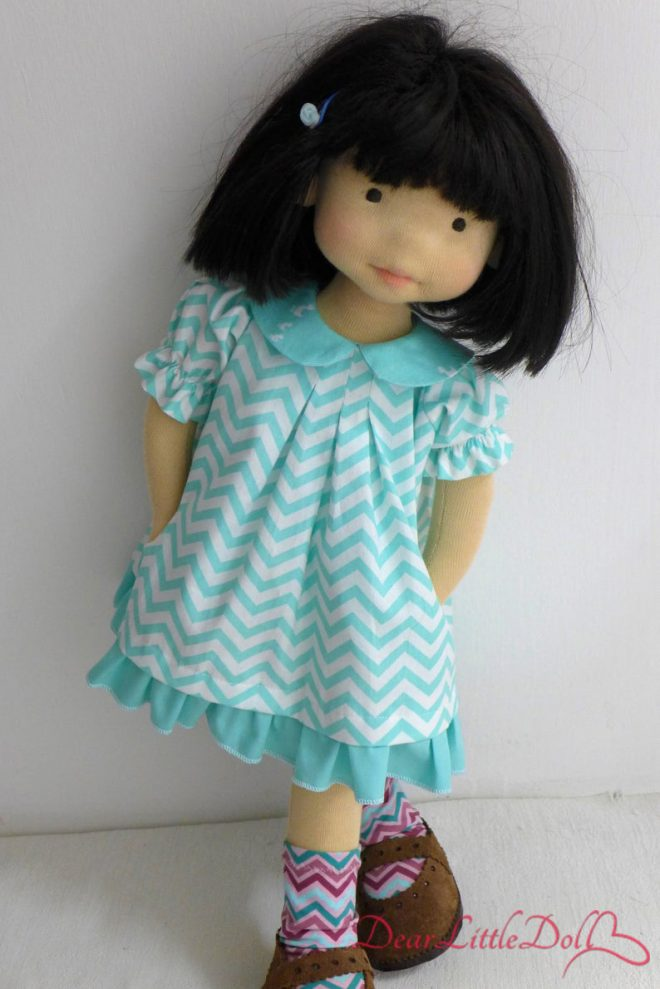 Waldorf doll pattern dress9