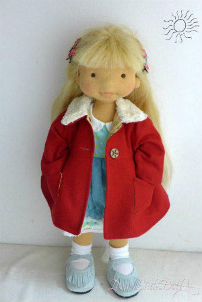Waldorf doll red coat3