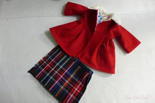 Waldorf doll red coat6